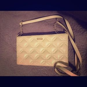 Nude Kate Spade Crossbody Quilted